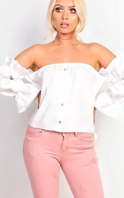 View the Vera Bardot Frill Sleeve Top  online at iKrush