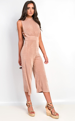 View the Verity Slinky Culotte High Neck Jumpsuit online at iKrush