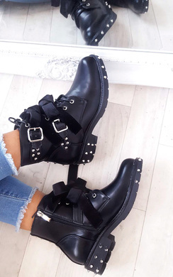 View the Vivienne Studded Bow Ankle Boots online at iKrush