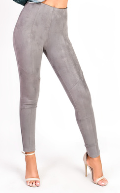 View the Carli High Waist Faux Suede Leggings online at iKrush