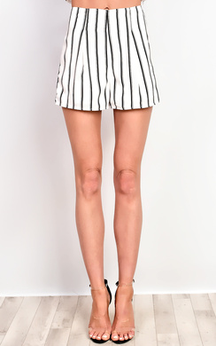 View the Ariel Striped Shorts online at iKrush
