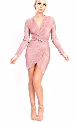 View the Maisey Ribbed Long Sleeved Midi Bodycon Dress online at iKrush