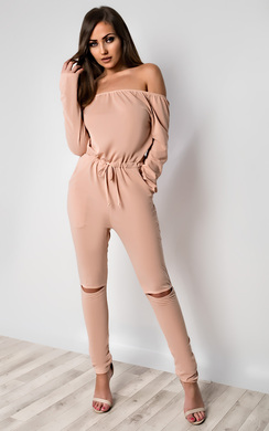 View the Qiana Off Shoulder Jumpsuit online at iKrush