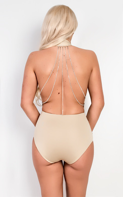 View the Zahrah Chain Detail Bodysuit online at iKrush