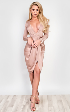 View the Isabella Gathered Bodycon Dress  online at iKrush