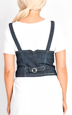 View the Ava Denim Corset Belt online at iKrush