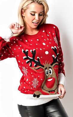View the Noel Oversized Slogan Christmas Jumper online at iKrush