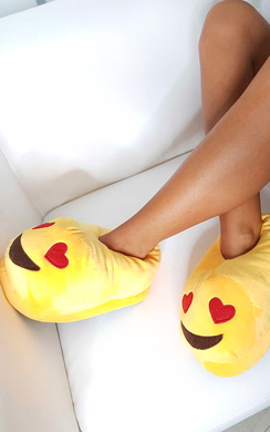 View the Emoji Heart Eyes Slippers online at iKrush