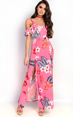 View the Daphne Double Split Floral Maxi Dress online at iKrush