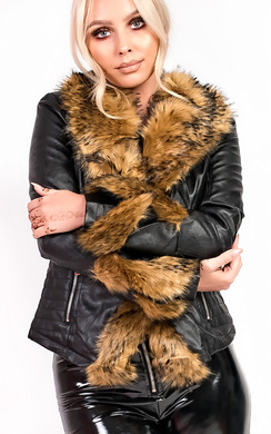 5b31586d365d View the Rhianna Faux Fur Biker Jacket online at iKrush