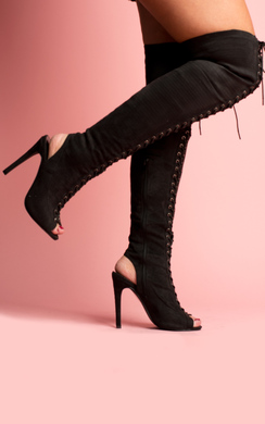 View the Beau Knee High Lace Up Boots online at iKrush