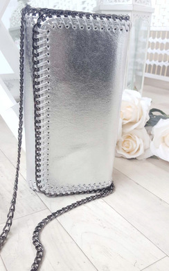 View the Carla Metallic Chain Detail Clutch Bag online at iKrush