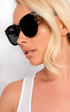 View the Kris Tortoise Black Sunglasses online at iKrush