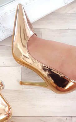 View the Celin Chrome Court Heels online at iKrush