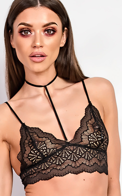 View the Emrezy Black Lace Bralet online at iKrush