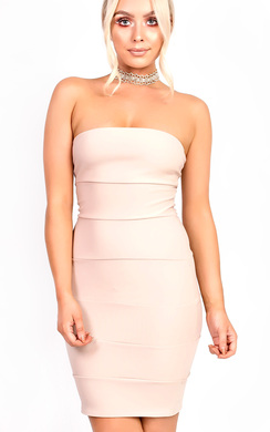 View the Siana Bandeau Bodycon Dress online at iKrush