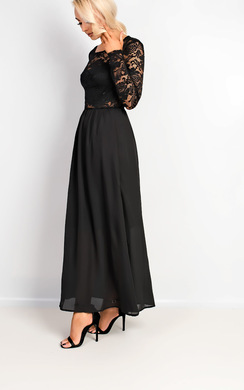 View the Hailee Lace Maxi Dress online at iKrush