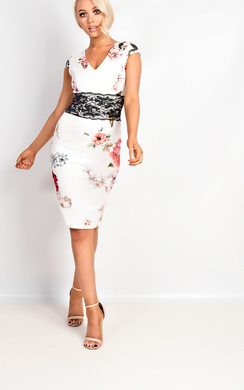 View the Abbie Floral Midi Dress online at iKrush
