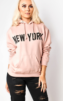 View the Calista Slogan Oversized Hoodie  online at iKrush