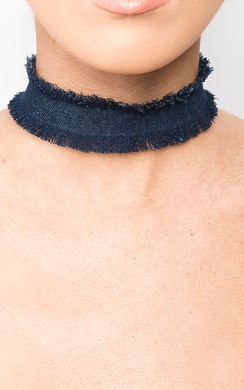 View the Connie Denim Choker  online at iKrush