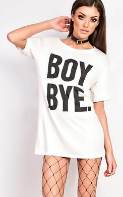 View the Hadid Slogan T-shirt Dress online at iKrush