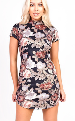 View the Lina Floral Bodycon Dress online at iKrush