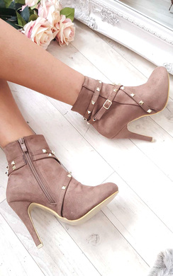 View the Anna Studded Ankle Boots  online at iKrush
