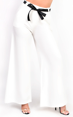 View the Siena High Waisted Wide Legged Trouser online at iKrush