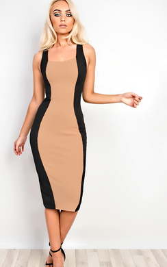 View the Abrielle Lace Up Midi Dress online at iKrush