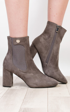 View the Kalo Faux Suede Heeled Boots online at iKrush