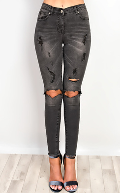 View the Enya Ripped Skinny Jeans online at iKrush