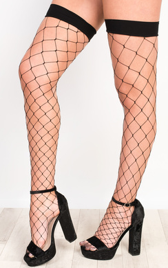 View the Eliah Diamond Fishnet Stockings online at iKrush