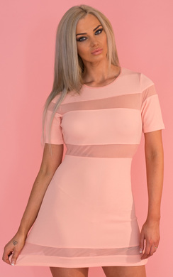 View the Briella Mesh Stripe Dress online at iKrush