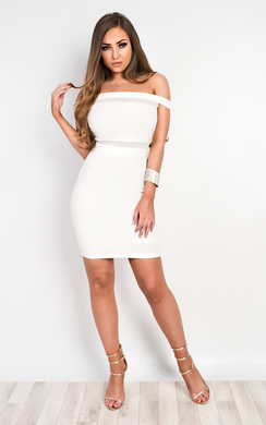 View the Solana Mesh Bodycon Dress online at iKrush