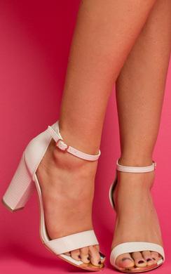 View the Elysia Peep Toe Block Heels online at iKrush
