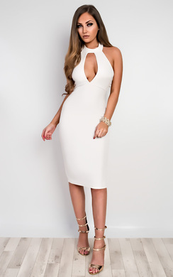 View the Casey Choker Neck Bodycon Dress online at iKrush