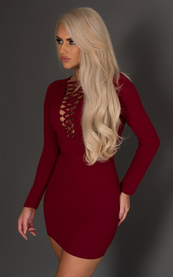 View the Eadith Lattice Detail Dress online at iKrush