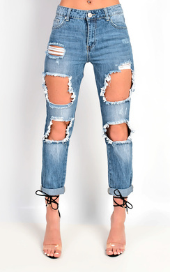 View the Steph Ripped Jeans online at iKrush