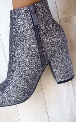 View the Solange Glitter Ankle Boots online at iKrush