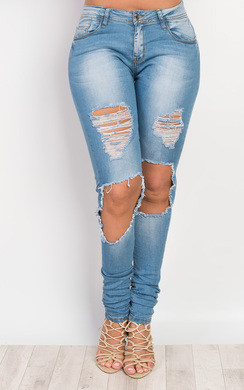 View the Aubrielle Ripped Skinny Jeans online at iKrush