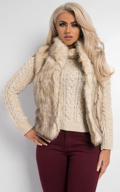 View the Brooke Faux Fur Gilet online at iKrush