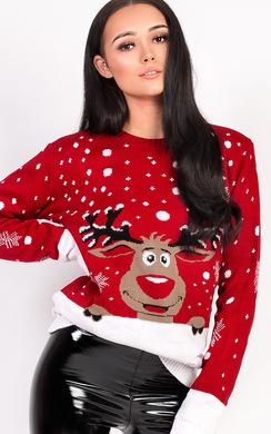 View the Noel Oversized Slogan Christmas Jumper online at iKrush