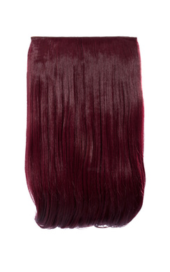 View the Intense Volume Clip In Hair Extensions - Flicky Burgundy online at iKrush