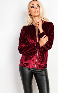 View the Marianna Suede Bomber Jacket online at iKrush