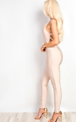 View the Pearl Bandage Bodycon Jumpsuit online at iKrush