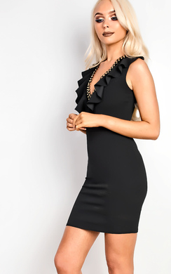 View the Brooklyn Frill Bodycon Dress  online at iKrush