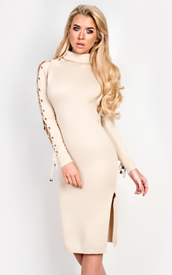View the Liv High Neck Midi Dress online at iKrush