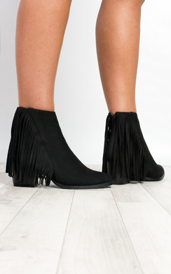 View the Lonia Fringed Boots online at iKrush
