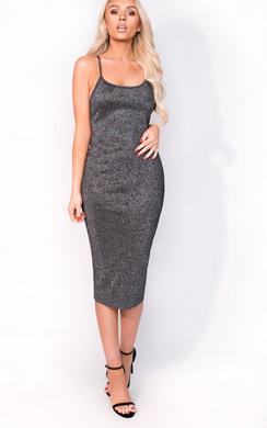 View the Saskia Midi Luxe Bandage Dress online at iKrush