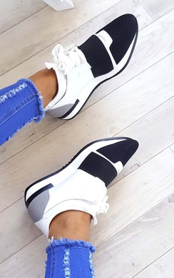 View the Bali Mesh Two Toned Panel Trainers online at iKrush